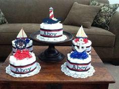 Nautical Diaper cakes
