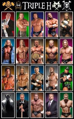 "( CELEBRITY MAN 2016 ★ TRIPLE H. ) ★ Paul Michael Levesque - Sunday, July 27, 1969 - 6' 4"" 260 lbs - Nashua, New Hampshire, USA."
