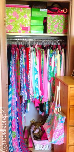 Lilly Pulitzer... This is what my closet will look like when I finally move to Key West