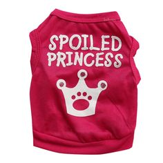 YOUR GALLERY Dog's Cute Princess T-shirt Clothes Vest Summer Coat Puggy Costumes ** Find out more about the great product at the image link.