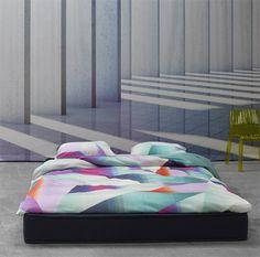 nova linge de lit Housse de couette percale de coton imprimé Grand Large Acier BLANC  nova linge de lit
