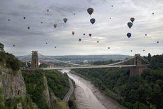 Bristol Balloon Fiesta in Bristol, England.
