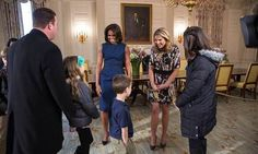 Michelle and Jenna sought the approval from visitors on the White House tour