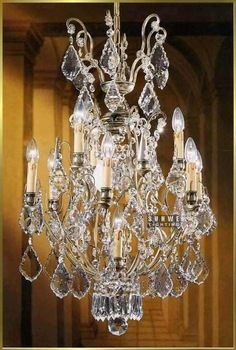 Versailles Chandelier dressed with maple leaf crystals10 lights beautiful gallery chandelier E9007 55cm W x 90cm H