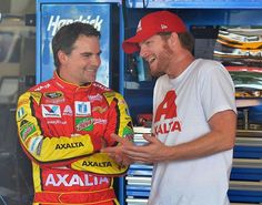 Jeff Gordon and Dale Jr