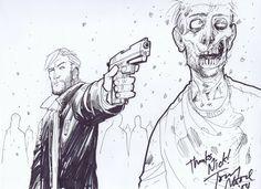 The Walking Dead - Tony Moore Comic Art