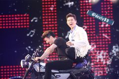 Sandeul with Son Hoyoung (g.o.d.) in All Shook Up via Duck Tape