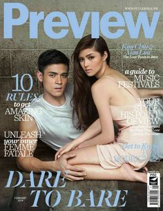 Kim Chiu, Xian Lim - Preview Magazine Cover [Philippines] (February 2014)