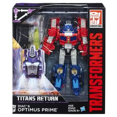 Optimus Prime & Diac Transformers Generations Titans Return Voyager Class