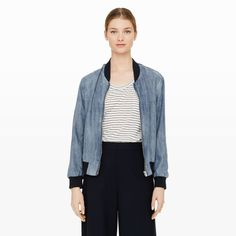 Vilma Denim Bomber - Jackets and Vests Women at Club Monaco