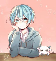 ころんくん Manga Anime, Anime Art, Karma Y Nagisa, Anime Blue Hair, Anime Child, Anime Boys, Anime Guys Shirtless, Nagisa Shiota, Kawaii Chibi