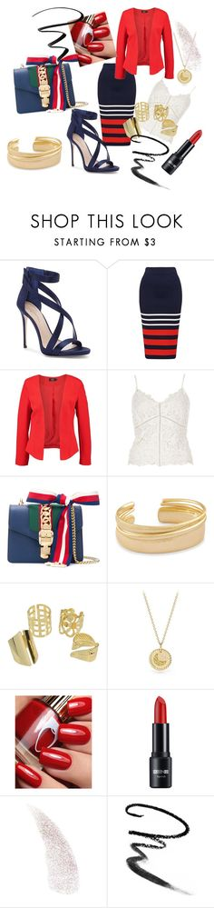 """""""Untitled #21"""" by adisatbrcaninovic ❤ liked on Polyvore featuring Imagine by Vince Camuto, River Island, Gucci, Kendra Scott, David Yurman, Maybelline and Eyeko"""