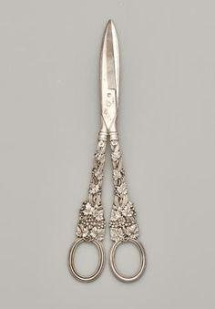 An English Sterling Silver Grape-shears, Paul Storr, London 1818.