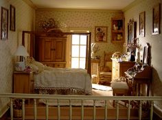 Dollhouse Number 9 - The Grandville (jt-follow link for more views of this lovely dolls house bedroom)
