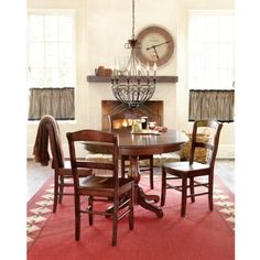 """round 42"""" table with 18"""" leaf in black #kitchen"""