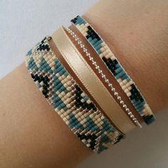 Loom Bracelet Patterns, Bead Loom Bracelets, Bead Loom Patterns, Beaded Jewelry Patterns, Woven Bracelets, Handmade Bracelets, Earrings Handmade, Handmade Jewelry, Bead Loom Designs