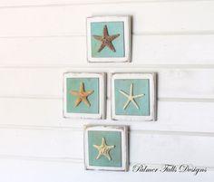 Starfish Plaque Your choice / Nautical Bathroom Decor / Beach House Decor / Starfish Decor / Wall Hanging / Nautical Decor / Ocean Wall Art on Etsy, $25.00
