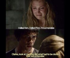 I hope something like this comes up in the episodes coming up! since Finns gone I hope for something with Clarke and Bellamy