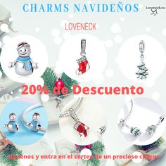 Charms navidenos decuento - Real Time - Diet, Exercise, Fitness, Finance You for Healthy articles ideas Advertise Your Business, Pandora Bracelet Charms, Silver Charms, Christmas Bulbs, Charmed, Holiday Decor, Create, Group, Board