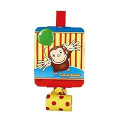 The classic party favor, with a Curious George flair! Each package contains four paper party blowers in yellow with red polka-dots. Perfect for your Curious George Birthday Party grab bags! Curious George Party, Curious George Birthday, Party Blowers, Party Favors, For Your Party, Party Themes, Party Supplies, Birthday Ideas, 2nd Birthday