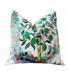 Schumacher Designer Linen Pillow  Citrus Garden by MotifPillows