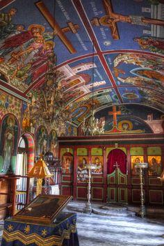 Church in Lesvos Island, Greece, repinned by http://www.greece-travel-secrets.com/Lesbos.html