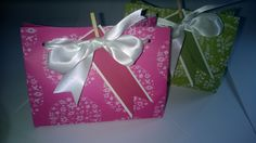 Two pretty domed box bags for Xmas. Come with labels as shown £2.50