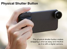 Snap Pro Camera iPhone Case Boasts Physical Shutter Button, Ergonomic Grip and Phone Lenses Vr Camera, Camera Case, Dslr Cameras, Phone Lens, Iphone Camera, Camera Photography, Iphone Photography, Photography Tips, Iphone Gadgets