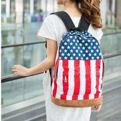College Style Canvas USA Flag Punk Rucksack und Schultasche only $26.9 in ByGoods.com!
