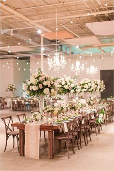 Wedding Estate Table | The Stave Room at American Spirit Works Wedding | Anna K Photography | Kate & Campbell Weddings & Events | Unique Floral Expressions