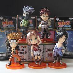 5 pcs/set Anime NARUTO Figurine Naruto Sasuke Sakura kakashi Gaara Model Figure 7CM