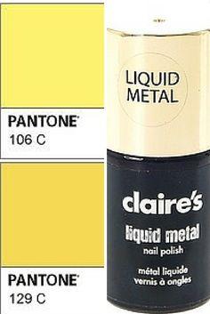 Vernis Gold liquid Metal Claire's accessories - wishlistpolish.com