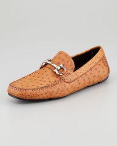 prada ostrich driving shoes