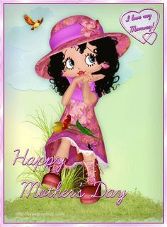 pretty happy mother's day betty boop | mothers day betty boop