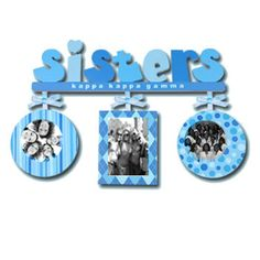 Kappa Kappa Gamma Sorority Sisters Frame $22.95. make something like this?