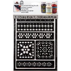 FolkArt Peel & Stick Stencil-Lace - ValuCrafts.com