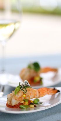 New spring recipe from our chef: Hawaiian Blue Prawns with Tomato Fondue