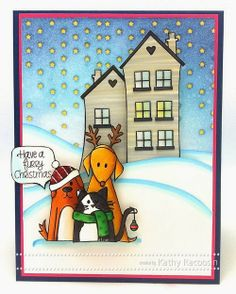 *Simon Says Clear Stamps FURRY CHRISTMAS Friends Pets