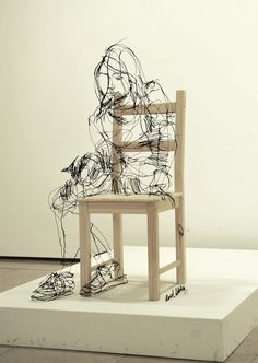 Scribbled Wire Sculptures by David Oliveira