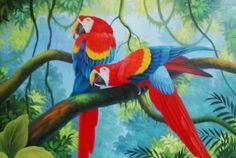 Pinturas Cuadros: Paisajes con aves