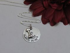 LOSS of PET -  Always in my Heart -Personalized Necklace - Dog Bone charm necklace - makes me miss my pup