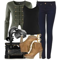"""""""Lydia Inspired Outfit with Requested Cardigan and Jeans"""" by veterization on Polyvore"""