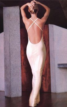 Kirsty Hume wearing Calvin Klein for Vogue, 1996