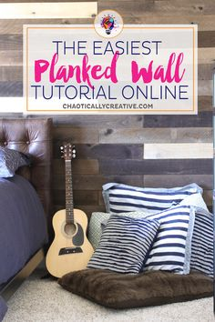 The easiest planked wall tutorial online! Seriously, you won't believe how inexpensive this is or how fast you can get it done. Let's just say you can knock it out before lunchtime!