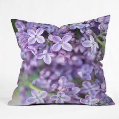 Lisa Argyropoulos Dreamy Lilacs Throw Pillow | DENY Designs Home Accessories