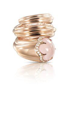 Bague petit doigt milky quartz Pasquale Bruni