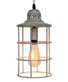 Look at this Metal Cage Lamp on #zulily today!
