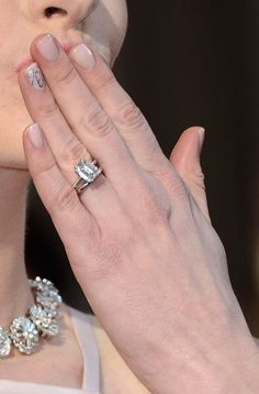 Celebrity Engagement Rings With Wedding Band 2013 59