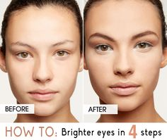 Step by step for brighter, bigger eyes.  #eyemakeup