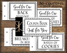 Make A TearOut Coupon Book  Coupons Books And Gift